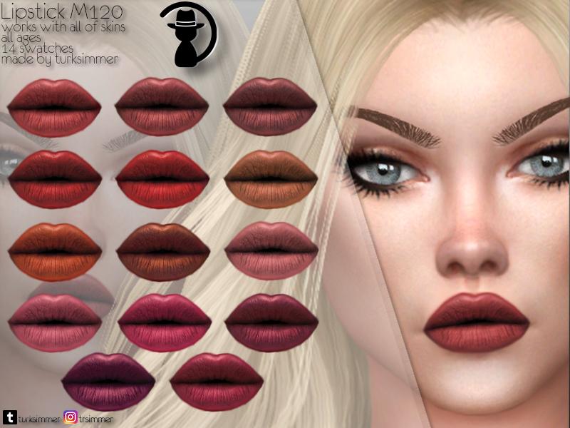 Помада Lipstick M120 для Симс 4