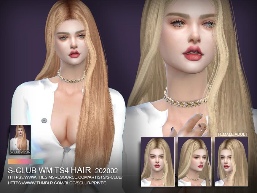 Прически длинные волосы Симс 4