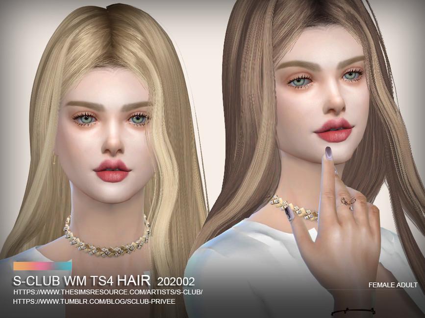 Прически длинные волосы Симс 4 (картинка 2)