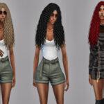 Прически женские длинные волосы Симс 4