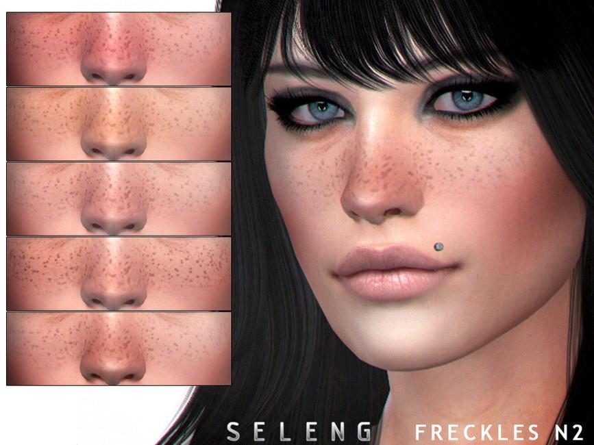 Веснушки на лице Симс 4