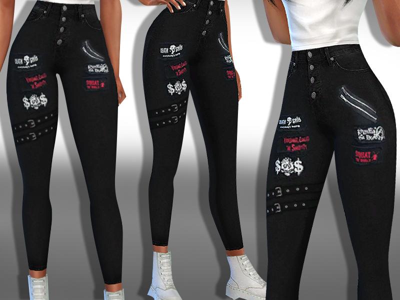 Черные джинсы Симс 4