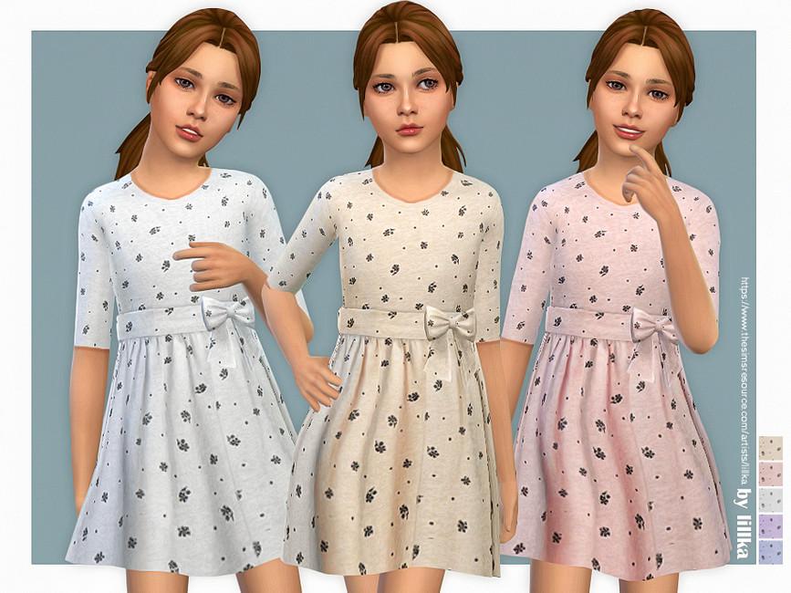 Детские платья Симс 4