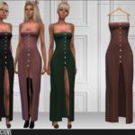 Длинные платья для Симс 4