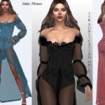Длинные платья Симс 4