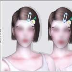 Короткие женские прически Sims 4