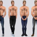 Мод мужские джинсы Симс 4