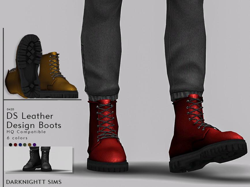 Мод обувь для мужчин Симс 4