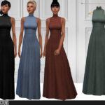 Моды длинные платья для Симс 4