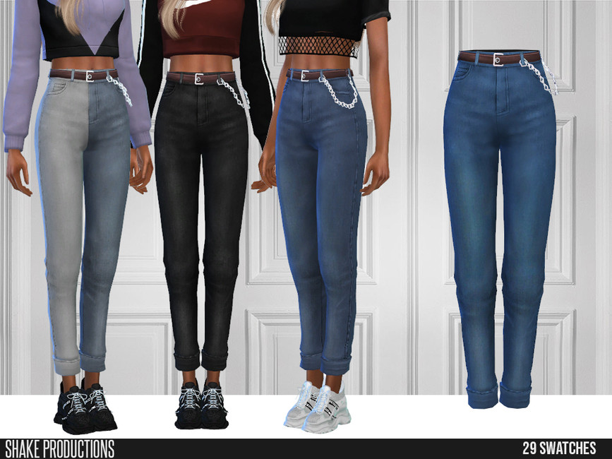 Моды джинсы для Симс 4