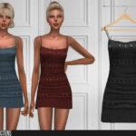 Моды короткие платья для Симс 4