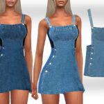 Моды короткие платья Симс 4