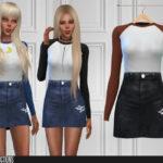 Моды на одежду платья Симс 4