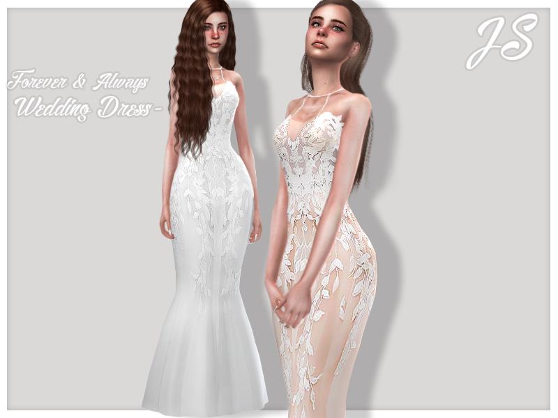 Моды свадебные платья для Симс 4