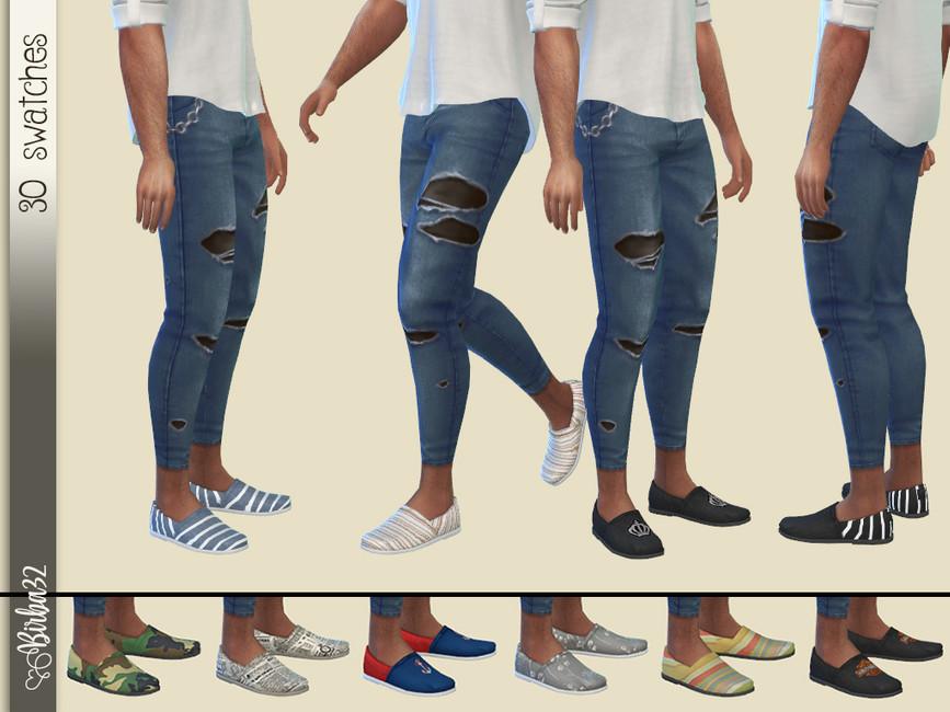 Обувь для мужчин Симс 4