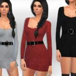 Одежда платья для Симс 4