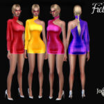 Платье Fielsny для Симс 4