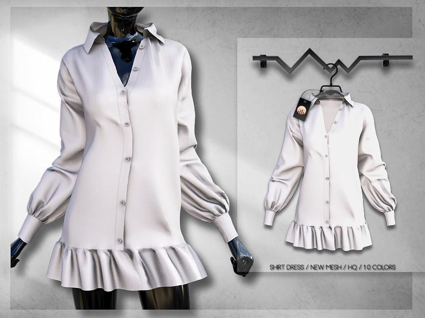 Платье рубашка Симс 4