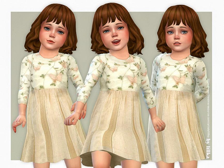 Платья для детей Симс 4
