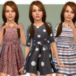 Платья для девочек для Симс 4