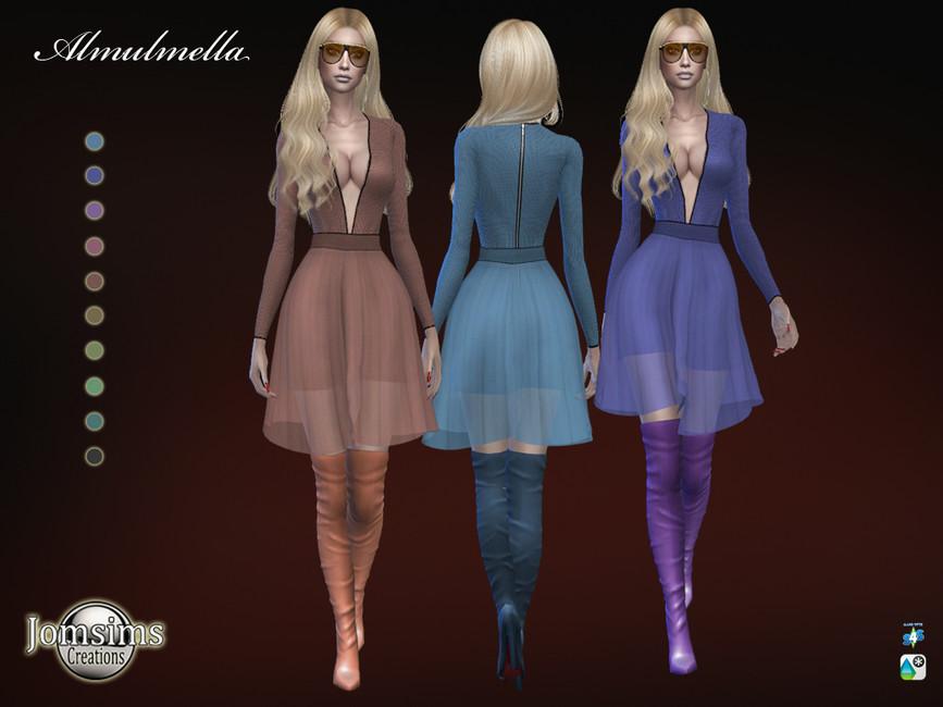 Прозрачное платье Симс 4