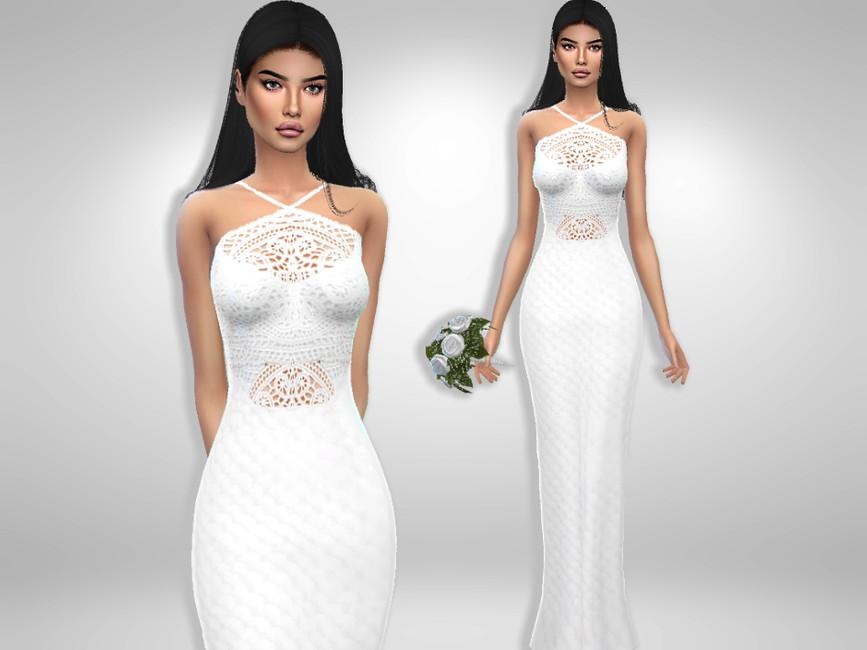 Скачать моды свадебное платье Симс 4