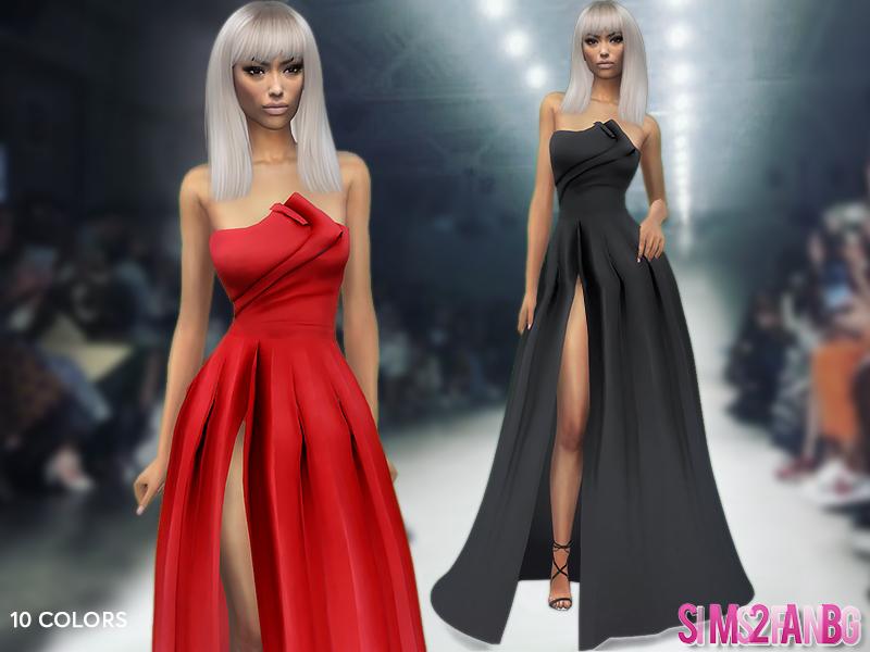 Скачать вечернее платье для Симс 4