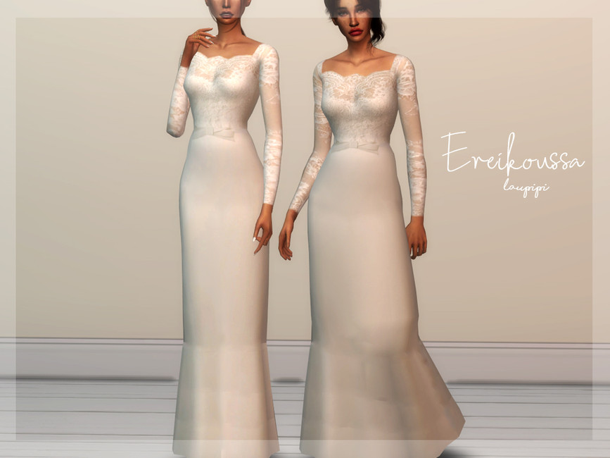 Свадебное платье Симс 4