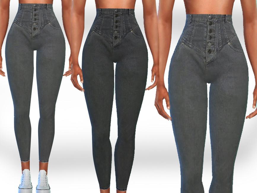 Завышенные джинсы Симс 4