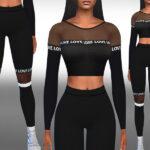 Женская спортивная одежда Симс 4