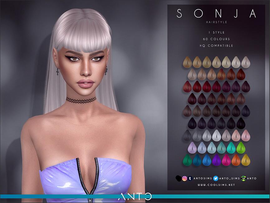 Женские прически Sims 4