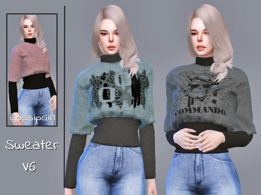 Женский свитер Симс 4