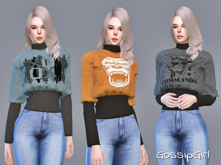 Женский свитер Симс 4 (картинка 2)