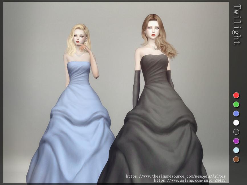 Бальные платья Симс 4