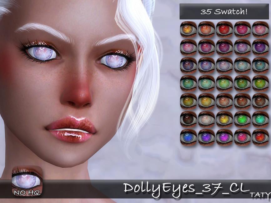 Белые глаза Симс 4