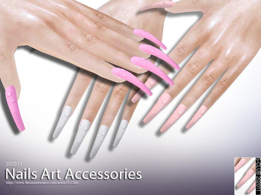 Длинные ногти Симс 4