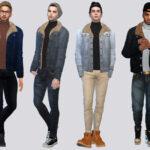 Джинсовая куртка Симс 4