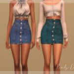 Джинсовая юбка Симс 4
