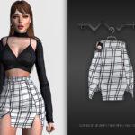Короткая юбка Симс 4
