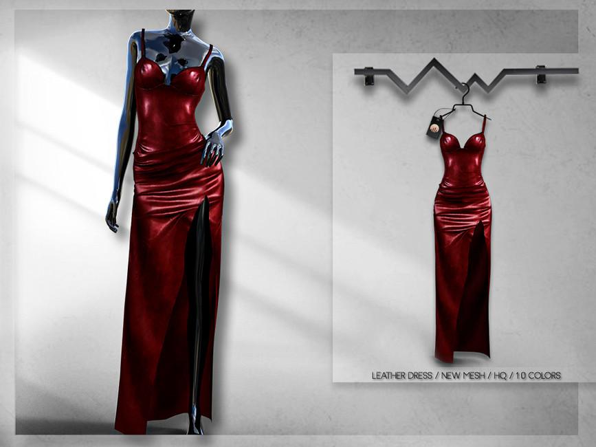Красное платье Симс 4