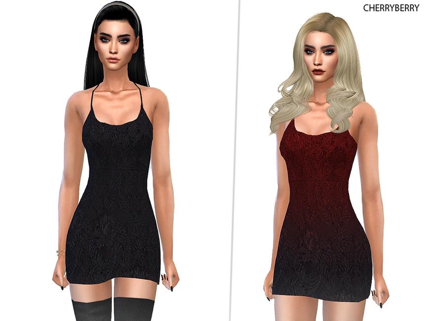 Кружевное платье Симс 4