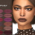 Матовая помада Seraphine Lipstick N292 для Симс 4