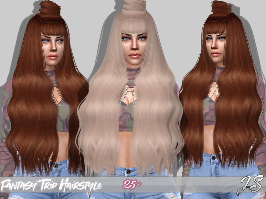 Мод прически длинные волосы Симс 4