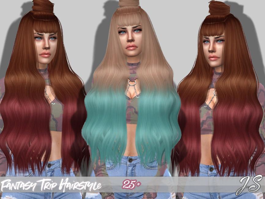 Мод прически длинные волосы Симс 4 (картинка 2)