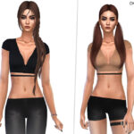 Моды на одежду топы Симс 4