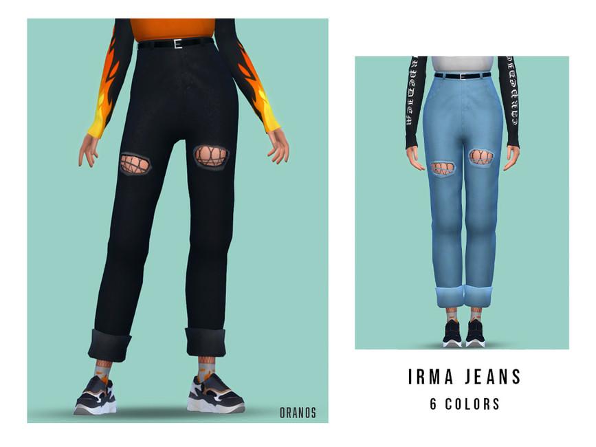Моды одежда джинсы Симс 4