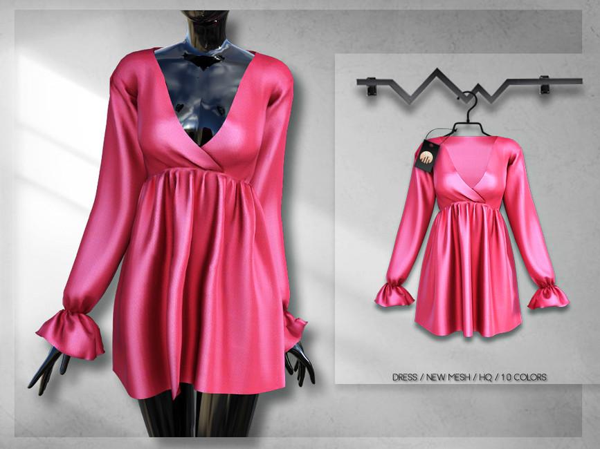 Моды платья короткие для Симс 4