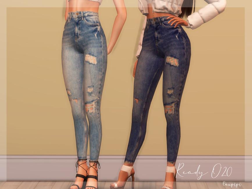 Моды рваные джинсы Симс 4