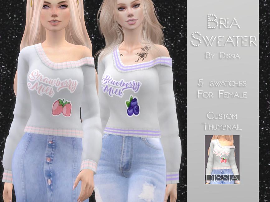 Моды свитер для Симс 4