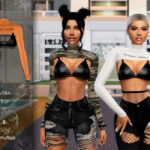 Моды женские топы для Симс 4